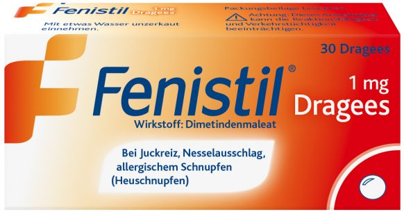 Fenistil 1 mg sugar-coated tablets