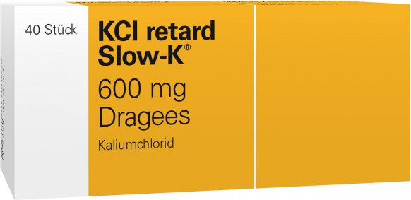 KCl retard Slow-K 600mg-Dragees