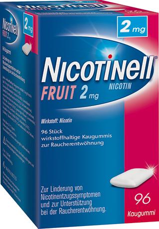 Nicotinell Fruit 2mg–wirkstoffhaltige Kaugummis zur Raucherentwöhnung