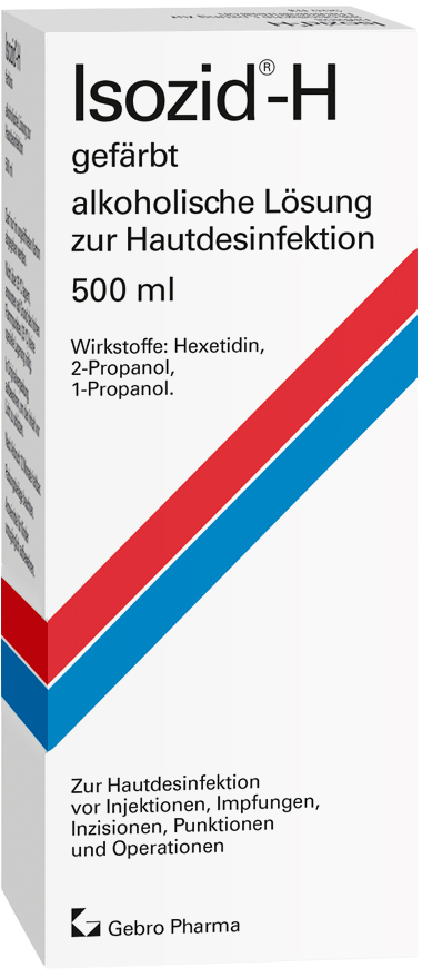 Isozid®-H gefärbt – alkoholische Lösung zur Hautdesinfektion