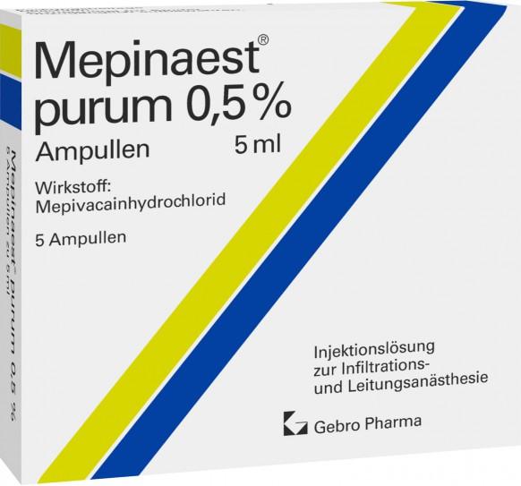 Mepinaest® purum 0.5% ampoules