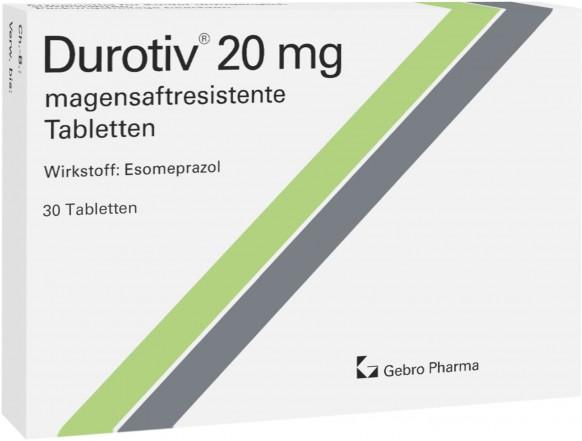 Durotiv® 20 mg-magensaftresistente Tabletten