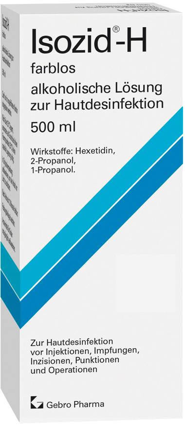 Isozid®-H farblos – alkoholische Lösung zur Hautdesinfektion