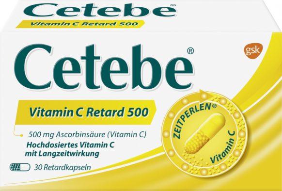Cetebe Vitamin C Retard-Kapseln 500 mg