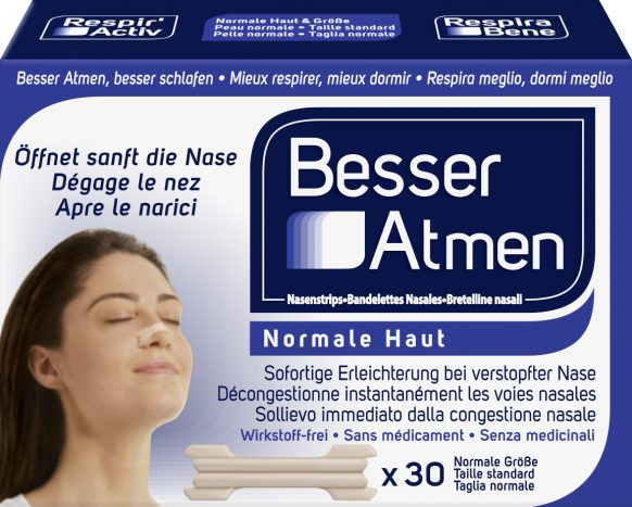 Besser Atmen Nasenstrips Normal Beige