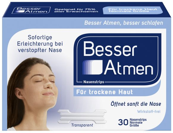 Besser Atmen Nasenstrips Normal Clear