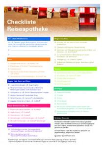 thumbnail of Checkliste Reiseapotheke 2017