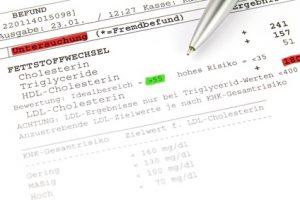 Vorsorgeuntersuchung - Bluttest - Leberwerte - Cholesterin