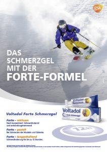 Voltadol Forte Skifahrer Plakat