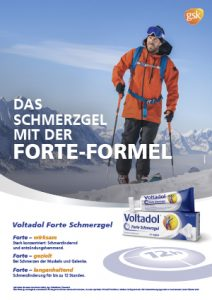 Voltadol Forte Skitourengeher Plakat