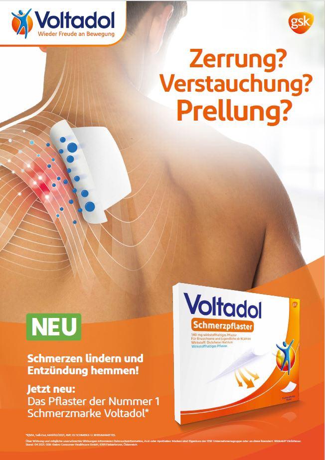 Neu: das Schmerzpflaster der Marke Voltadol